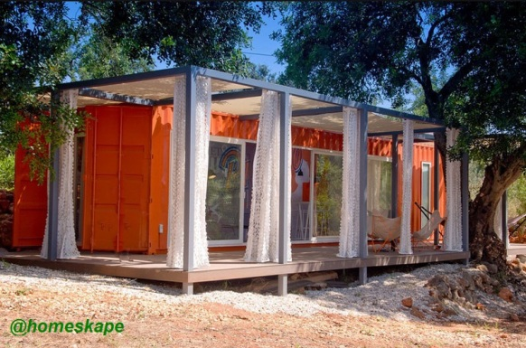 container home with patio for sale