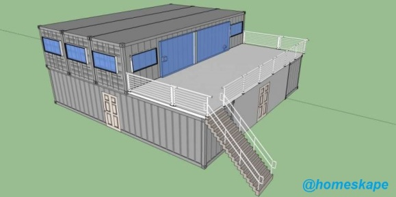 shipping container home homeskape